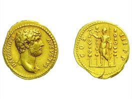 Hadrianus, 117 � 138, Aureus, 132 - 134, Rv: COS III PP - vyvol�vac� cena 180.000