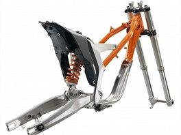 KTM Freeride E - Při konstrukci rámu byl kladen důraz na tuhost a hmotnost.