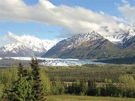 Matanuska Glacier je jeden z nejdelších ledovců Aljašky.
