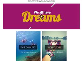 Webová prezentace WondrWorld