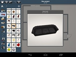 V aplikaci Home Design 3D najdete celé knihovny nábytku i dalších objektů, které můžete rozmístit v navrhovaném interiéru