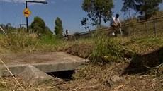 Novorozen� skon�ilo v kanálu u cyklostezky v australském Sydney.