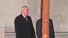 Prezident �R Milo� Zeman v Tád�ikistánu
