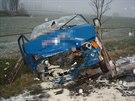 Při těžké dopravní nehodě u Bruntálu bylo v sobotu odpoledne zraněno pět lidí. Srazila se tam dodávka a osobní auto (30. listopadu)