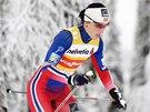 Marit Bj�rgenov� v z�vod� na deset kilometr� klasicky ve finsk� Ruce.