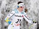 Charlotte Kallaov� v z�vod� na deset kilometr� klasicky ve finsk� Ruce.