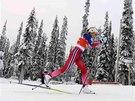 Therese Johaugov� v z�vod� na deset kilometr� klasicky ve finsk� Ruce.