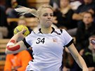 Česká házenkářka Markéta Jeřábková v zápase s Litvou.