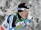 Domácí běžec na lyžích Iivo Niskanen v závodě na 15 klasicky ve finské Ruce.