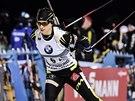 Členka vítězné štafety francouzských biatlonistů Anais Chevalierová.