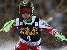 Rakouská lyžařka  Kathrin Zettelová dojela třetí ve slalomu Světového poháru v Aspenu.