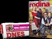 páteční vydání MF DNES s magazínem Rodina