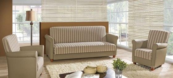 Potřebujete v obýváku dostatek místa pro ležení i pro sezení? Pořiďte si rozkládací sedací soupravu Flory 3+1+1.