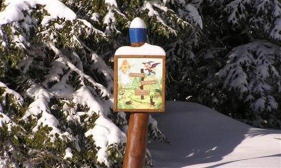 Ježíškova stezka je pořádné vyznačena a zastávky neukryje ani sněhová nadílka.