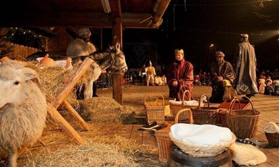 Živý betlém ve Valašském muzeu v přírodě