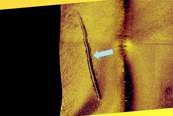 Snímek stop na dně podle švédského námořnictva ukazuje na ponorku ze závěrečné zprávy o pátrání po neznámém plavidlu ve švédských vodách