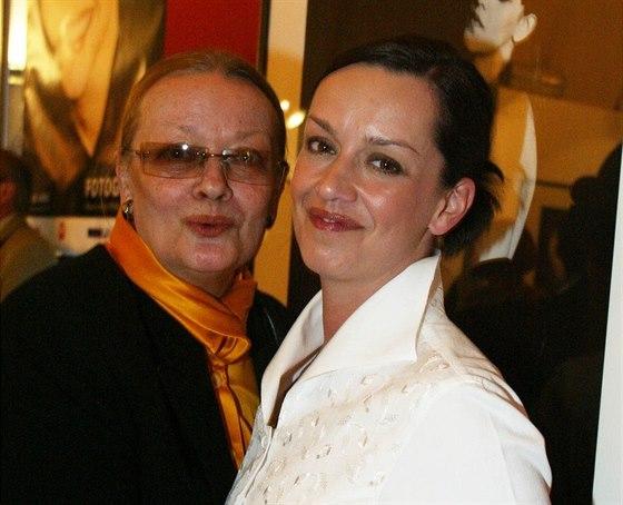 Jana Brejchová a Tereza Brodská v roce 2003