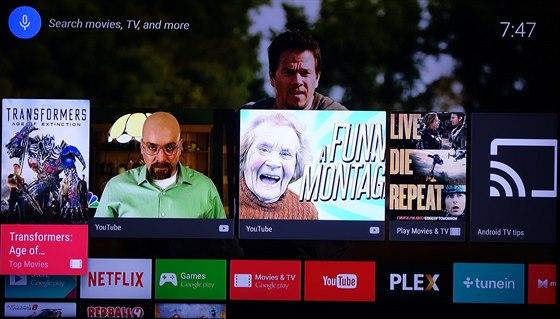 """Na """"domácí"""" obrazovce mají videa z YouTube velký prostor."""