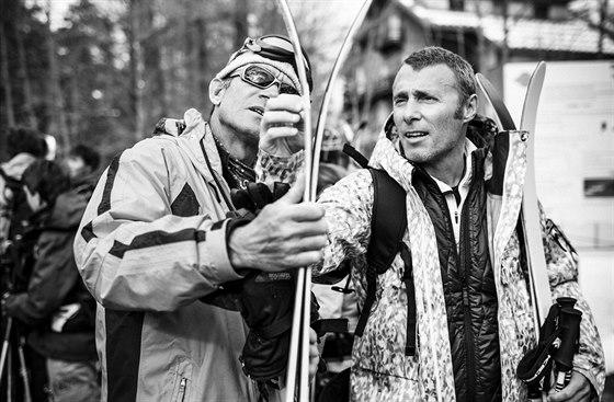Andre-Jean Kruajitch. jeden z 10 nejlepších testérů lyží na světě (vpravo)