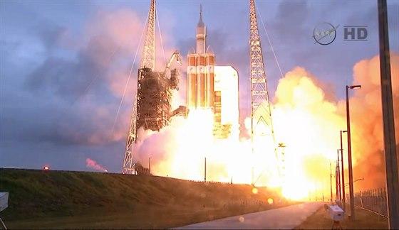 Start Orionu z pozemn� kamery