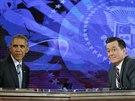 Barack Obama v po�adu The Colbert Report (8. prosince 2014)