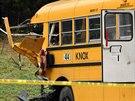 V americkém Tennessee se srazily dva školní autobusy (2. prosince 2014).
