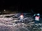 Zásahy hasičů Jihomoravského kraje v době ledovky (2. prosince 2014).