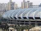 Stadion v Aleppo, oblast kontrolují jednotky věrné Asadovi (6. prosince 2014).