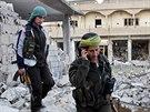 Kurdské bojovnice v Kobani (19. listopadu 2014).