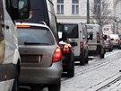 Nehoda zkomplikovala provoz na pražském Újezdě a v Karmelitské ulici (9.12.2014)