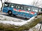 Ledovka pokryla jihomoravské silnice. Policisté řeší desítky nehod. Stalo se jich pětkrát více, než je obvyklé. Hasiči také vyjíždějí k popadaným stromům.
