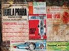 Plakáty ze šedesátých let se objevily u brněnského Moravského náměstí.
