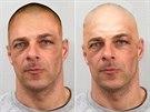 Policie ČR zveřejnila nejnovější možnou podobu uprchlého vězně Jana Nováka.