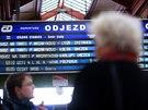 Ledová námraza ochromila především železniční a městskou veřejnou dopravu. Snímek je z Masarykova nádraží v Praze. (2. prosince 2014)