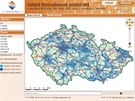 Mapa celkov�ho pokryt� s�t�mi vysokorychlostn�ho p��stupu k internetu u O2