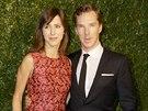 Benedict Cumberbatch se svou snoubenkou Sophi� Hunterovou