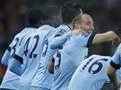 SLAVÍME. Fotbalisté Manchesteru City se radují z gólu.