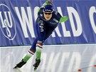 Marije Jolingová v závodě na 3 000 metrů při Světovém poháru v Berlíně.