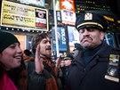 Protest v New Yorku probíhal poměrně klidně.