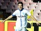 Simone Verdi z Empoli slaví svůj gól proti Neapoli.