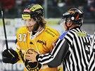 Litvínovský hokejista Kamil Piroš se dostal do sporu s rozhodčími.