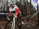 Tomáš Paprstka na trati cyklokrosového Toi Toi Cupu v Kolíně