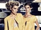 Veronika Chmelířová (vlevo) je jednou z pravidelných tváří kalendářů návrhářky Beaty Rajské.