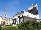 Absolutn� dominantou Ji��ho z Pod�brad je kostel Nejsv�t�j��ho Srdce P�n�.