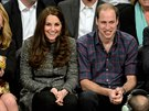 Kate a princ William na z�pase NBA: Cleveland Cavaliers a Brooklyn Nets (New York, 8. prosince 2014)