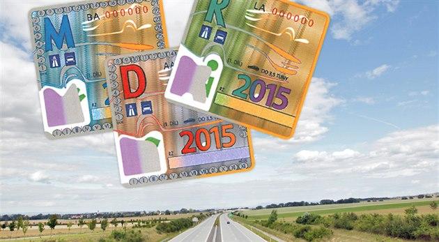 Dálni�ní známky 2015