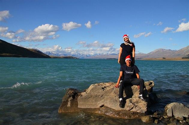 Na�e váno�ní fotka od Tekapa