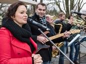 Jitka Čvančarová s kapelou Richard na předávání Richardů