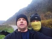 Běželi jsme s kamarádem ráno 1.12. po cyklostezce z Tróje od ZOO do Klecan a nazpátek. Asi 22 kilometrů.