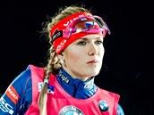 Gabriela Soukalov� p�ed startem vytrvalostn�ho z�vodu v �stersundu.